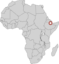 showing the location of ethiopia in africa map
